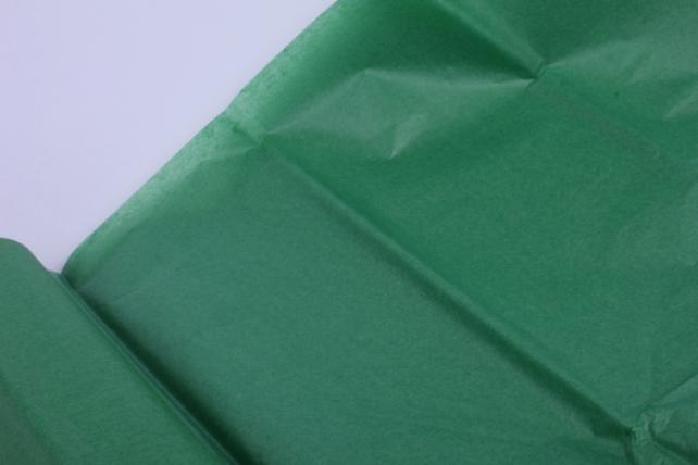 бумага  тишью (ч) зеленая  50*66см (10 листов в уп)