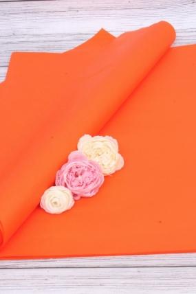"Бумага тишью для цветов 50*76см №082 Оранжевый ""Италия"" 21гр 24листа F082A-FSC"