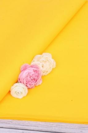"Бумага тишью для цветов 50*76см №071 Темно желтый ""Италия"" 21гр 24листа F071A-FSC"