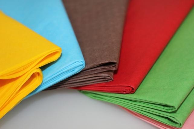 бумага тишью бумага тишью голубая 76х50см (10 листов в уп) 7600
