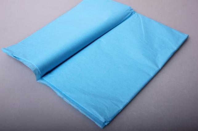бумага тишью голубой 50х50см (10 листов в упаковке)