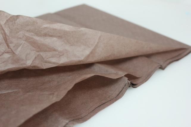 бумага тишью бумага тишью коричневая 76х50см (10 листов в уп) 7535