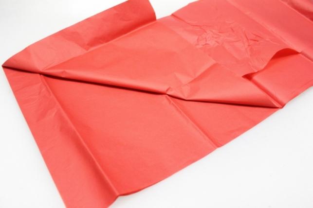 бумага тишью красная 50х50см (10 листов в упаковке)