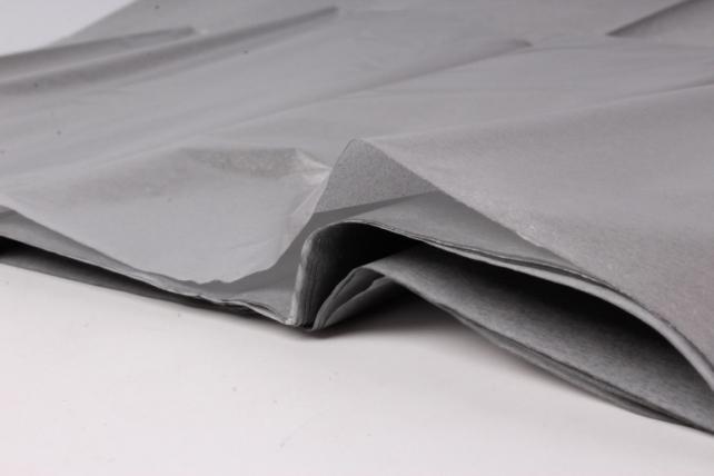 бумага  тишью серебро  50*66см (10 листов в уп)