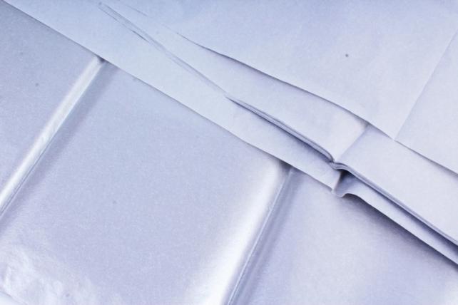 Бумага тишью 51*66см  045 Серебро в листах 17гр 10 листов  433 PTQ045 (М)