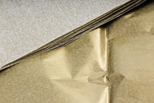 Бумага тишью 51*66см 046  Золото в листах 17гр 10 листов  433 PTQ046 (М)