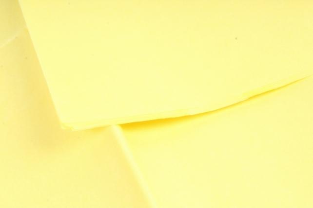 Бумага тишью 51*66см  Лимонная в листах 17гр 10 листов  107  PTQ107 (М)