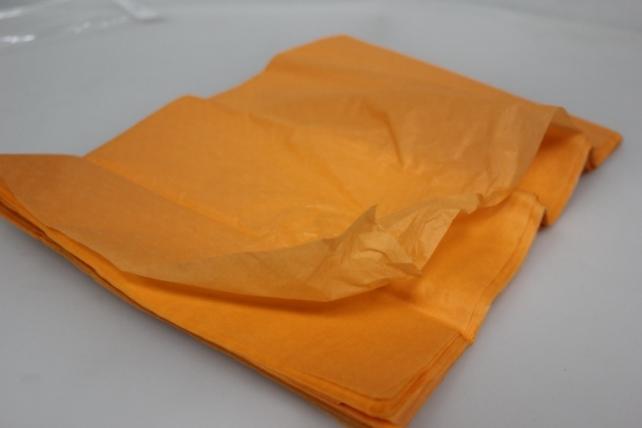 бумага тишью бумага тишью светло оранжевая 76х50см (10 листов в уп) 7542