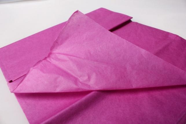 бумага тишью ярко-сиреневая 76х50см (10 листов в уп)