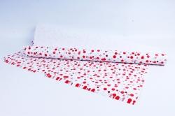 Бумага  ГЛЯНЕЦ 100/650 Алые конфетти   (68*98см)  (10 лист.)
