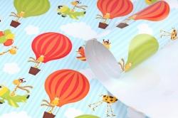 Бумага  ГЛЯНЕЦ 100/846 Жирафы в воздухе 68*98см (10 лист.)