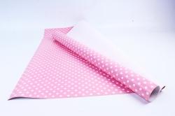 Бумага  ГЛЯНЕЦ 100/001-61 Горошек розовый (68*98см)  (10 лист.)