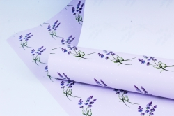 Бумага  ГЛЯНЕЦ 100/361 Лаванда на ветру (68*98см) ( 10 листов)