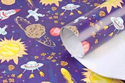 Бумага  ГЛЯНЕЦ 100/845 Солнечная система 68*98см (10 лист.)