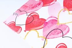 Бумага  ГЛЯНЕЦ 100/458 Воздушные сердца   (68*98см)  (10 лист.)