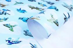 Бумага  ГЛЯНЕЦ 100/651 Воздушный флот   (68*98см)  (10 лист.)