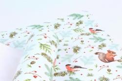Бумага  ГЛЯНЕЦ 100/Х259 Нов. Год  Рыжая и красногрудый (68*98см)  (10 лист.)