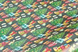 Бумага  ГЛЯНЕЦ 100/Х253 Нов. Год  Зелёная красавица  (68*98см)  (10 лист.)