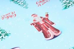 Бумага  ГЛЯНЕЦ 100/Х244  Нов. Год Здравствуй,Дедушка Мороз   (68*98см)  (10 лист.)