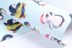Бумага  ГЛЯНЕЦ 100/Х239  Нов. Год  Тайная жизнь пингвинов (68*98см)  (10 лист.)
