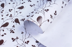 Бумага  ГЛЯНЕЦ 01/031  Птички на ветке (68*98см)  (10 лист.)