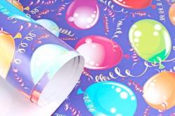 Бумага  ГЛЯНЕЦ 100/838  Воздушные шарики 68*98см (10 лист.)