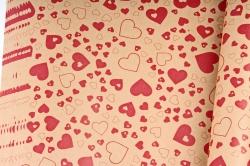 Бумага  КРАФТ 203/480 Биение сердца 100*70см  (10 лист.)