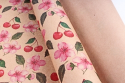 Бумага  КРАФТ 203/373 Цветение вишни 100*70см  (10 лист.)