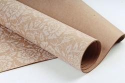 Бумага  КРАФТ 203/403 Цветокружево белое 100*70см  (10 лист.)