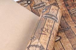 Бумага  КРАФТ 203/691 Деревянный винтаж 100*70см  (10 лист)