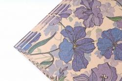 Бумага  КРАФТ 203/378 Голубой лен 100*70см  (10 лист.)