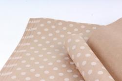 Бумага  КРАФТ 203/401 Горошек белый 100*70см  (10 лист.)