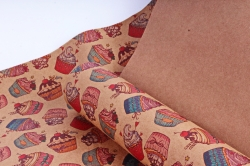 Бумага  КРАФТ 203/801 Мода на капкейки 100*70см  (10 лист.)