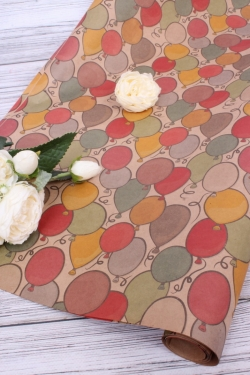 Бумага  КРАФТ 702/01 Надувные шарики 0,7х2 м (2 листа 100х70 см)