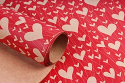 Бумага  КРАФТ 203/467 Нити сердца 100*70см  (10 лист)