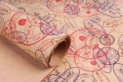 Бумага  КРАФТ 203/675 Паспортный контроль 100*70см  (10 лист)