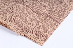 Бумага  КРАФТ 02/001 Растительный орнамент 100*70см  (10 лист.)