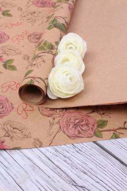 Бумага  КРАФТ 702/01 Rose 0,7х2 м (2 листа 100х70 см)