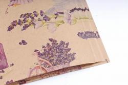 Бумага  КРАФТ 203/381 Урожай лаванды 100*70см  (10 лист.)