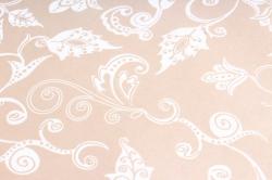 Бумага  КРАФТ Белый  Сказочная гжель, золото  70см*10м  в лист. 40гр/м2 (10 лист.) Р926