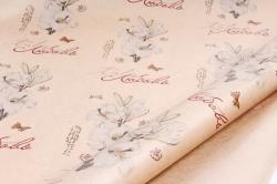 """Бумага  крафт цветочная """"Цветы любовь""""  84см*10м  40г/м2   ( М) 27636"""