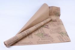 Бумага  крафт цветочная Лаванда блюз  70см*10м  70г/м2   35240ПУ   М