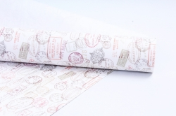 Бумага  крафт цветочная Почтовые штампы 70см*10м  40г/м2  ( М)  UNPST-40