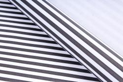 Бумага  крафт цветочная Полоски чёрные 50см*10м  70г/м2    35410ПУ   М