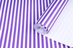Бумага  крафт цветочная Полоски фиолетовые 50см*10м  70г/м2    35406ПУ   М