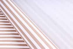 Бумага  крафт цветочная Полоски коричневые 50см*10м  70г/м2    35412ПУ   М