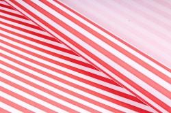 Бумага  крафт цветочная Полоски красные 50см*10м  70г/м2    35411ПУ   М