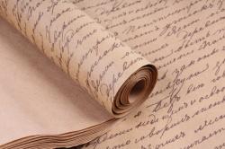 Бумага  крафт цветочная Пушкинские строки 70см*10м  40г/м2   ( М)  PinPS-40