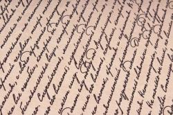 Бумага  крафт цветочная Рукопись 72см*10м  40г/м2   33777ПУ   М