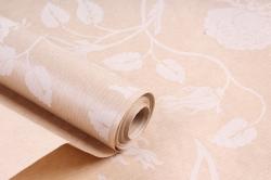 Бумага  крафт цветочная Вьющиеся розы белые 72см*10м  40г/м2    35964ПУ   М